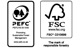FSC<sup>®</sup> AND PEFC logo