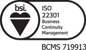 ISO 22301: BUSINESS CONTINUITY MANAGEMENT logo
